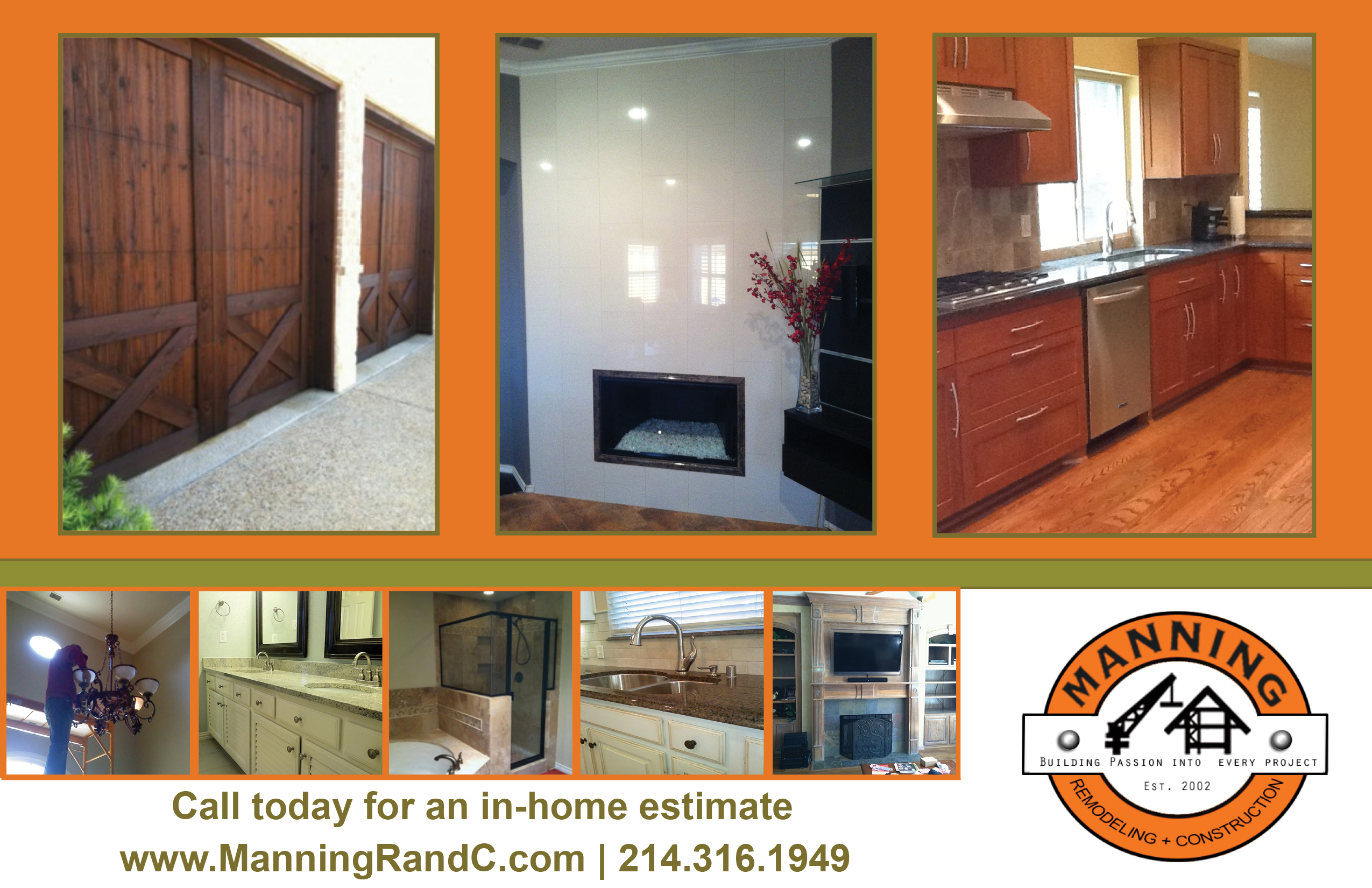 Manning Remodeling and Construction Flyer - Back