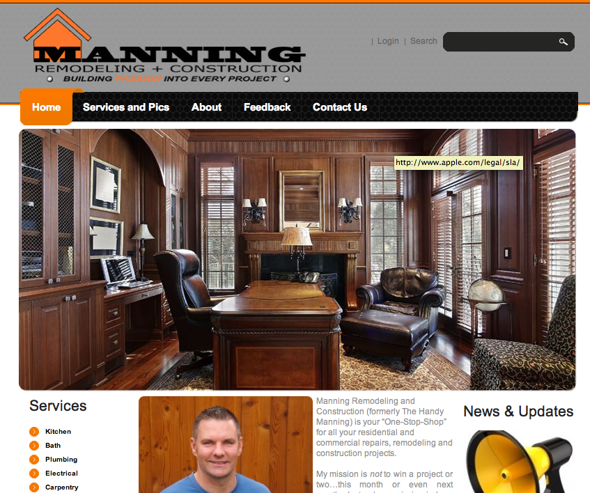 Manning Remodeling & Construction Improved Website