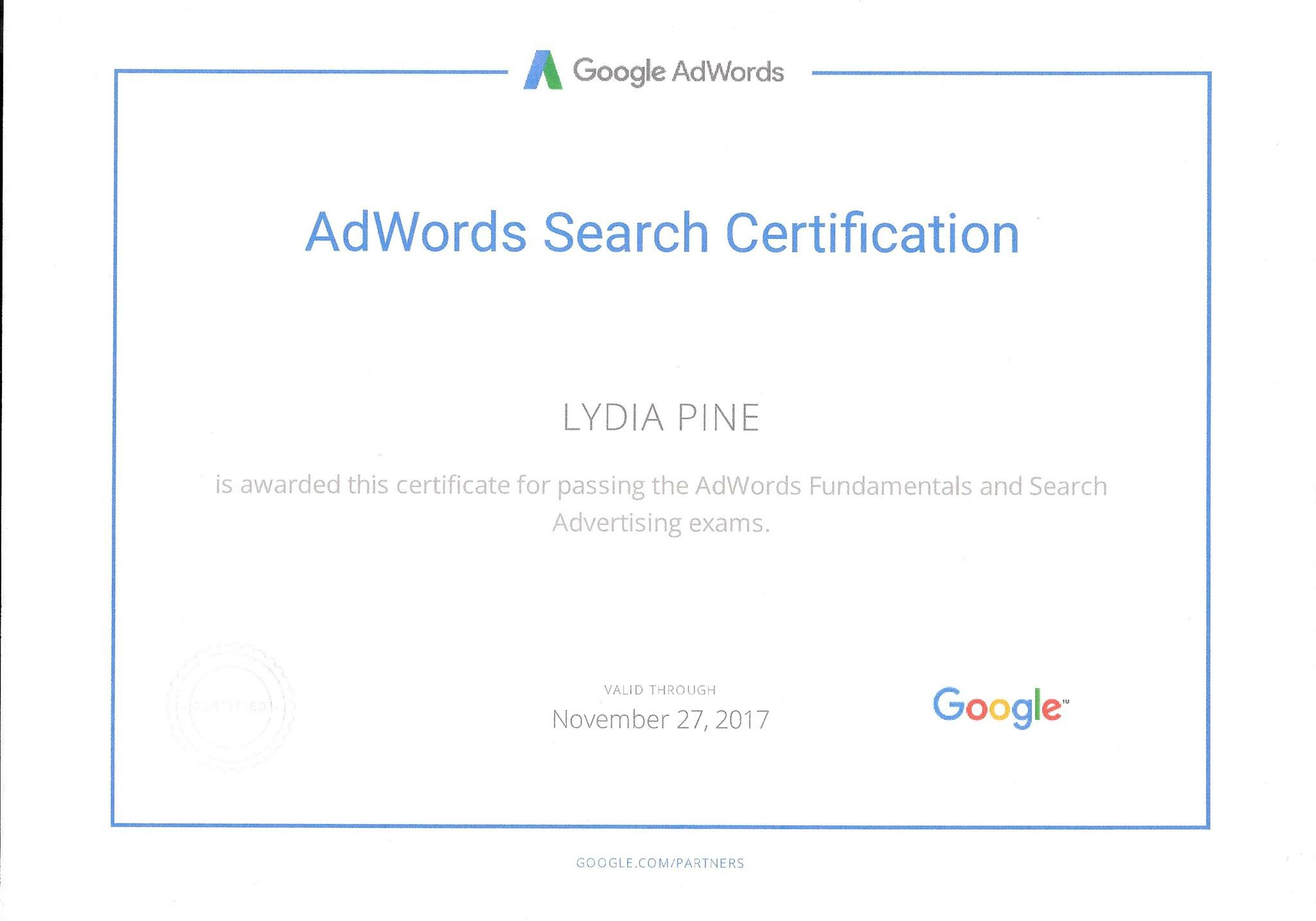 Google Adwords Certification Check