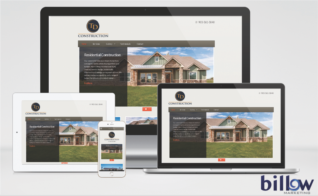 Brothers Contractors Website Mockup