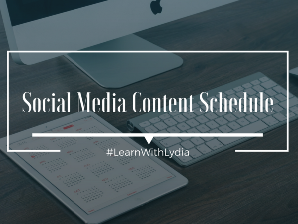Social Media Content Schedule