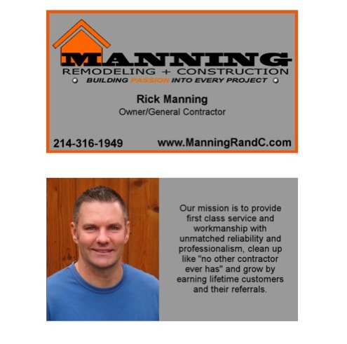 Rick Manning Business Card Front and Back